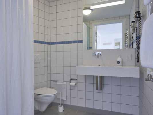 Hotel Aarhus badeværelse