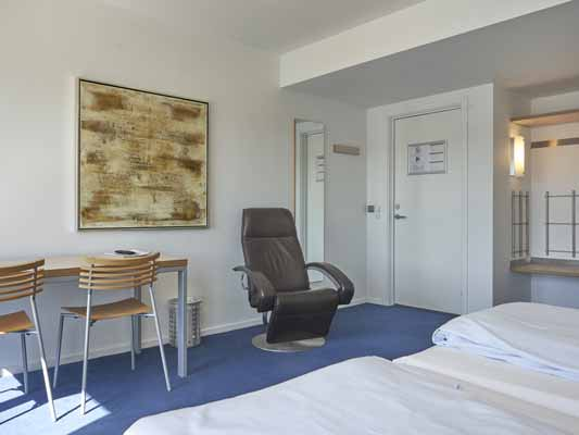 Hotel Aarhus dobbeltværelse