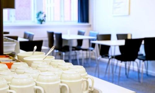 BB-Hotel Vejle - morgenmad i kantinen
